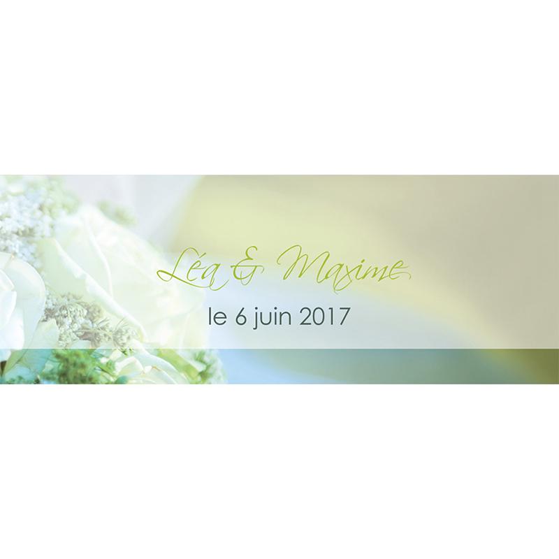 Marque-place mariage Florilège vert pas cher