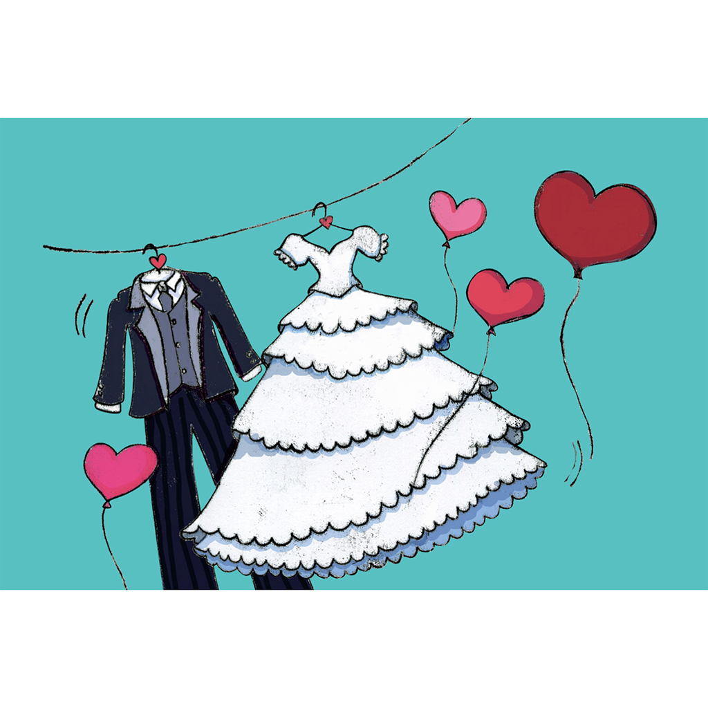 Faire-part de mariage Union bleu pas cher