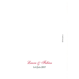 Menu mariage Florilège rose