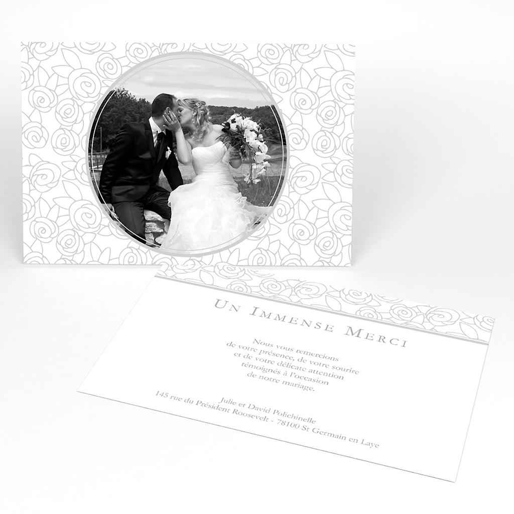 Carte de remerciement mariage Vendôme