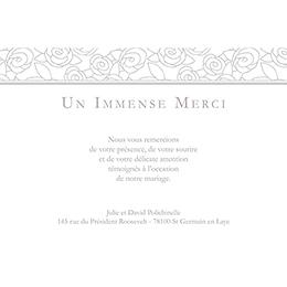 Carte de remerciement mariage Vendôme  gratuit