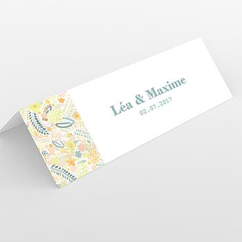 Marque-place mariage Aquarelle