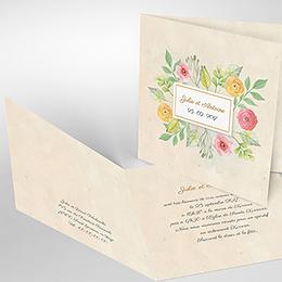 Faire-part de mariage Fleurs Vintage