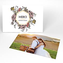 Carte de remerciement mariage Authenticité