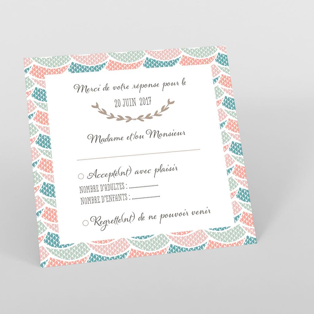 Carton réponse mariage Trendy