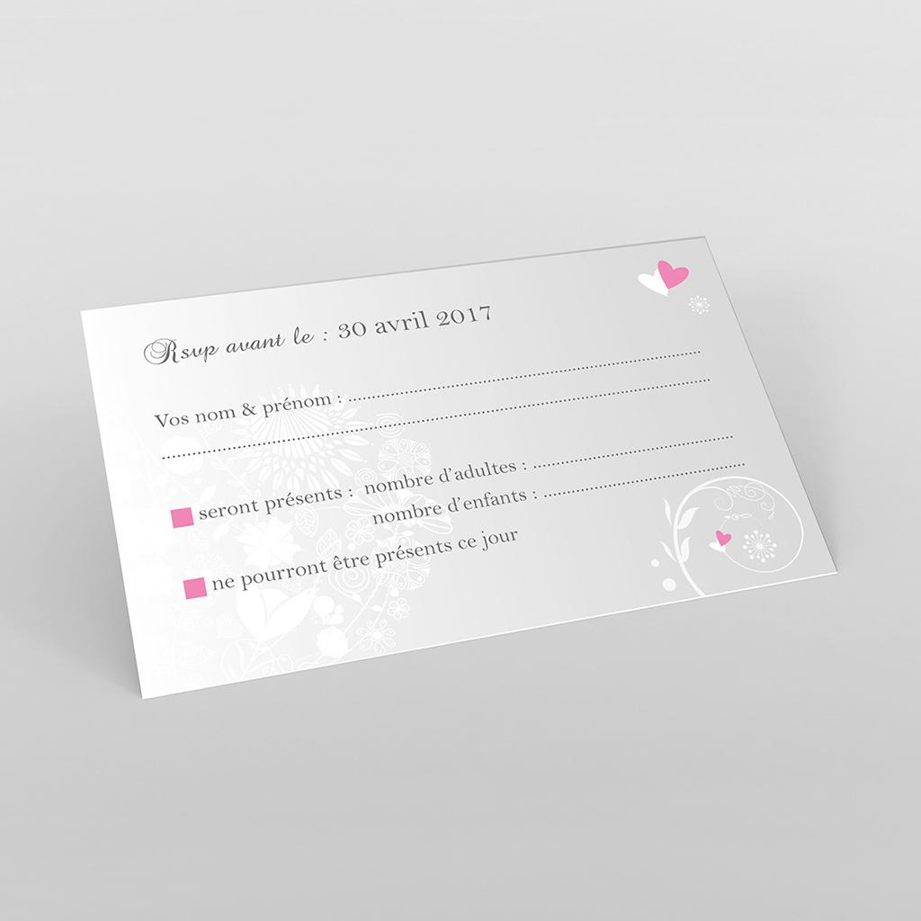 Carton réponse mariage Youpi gris panoramique