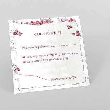 Carton réponse mariage Voyage d'amour