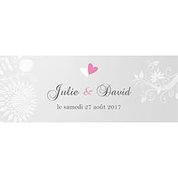 Marque-place mariage Youpi gris panoramique pas cher