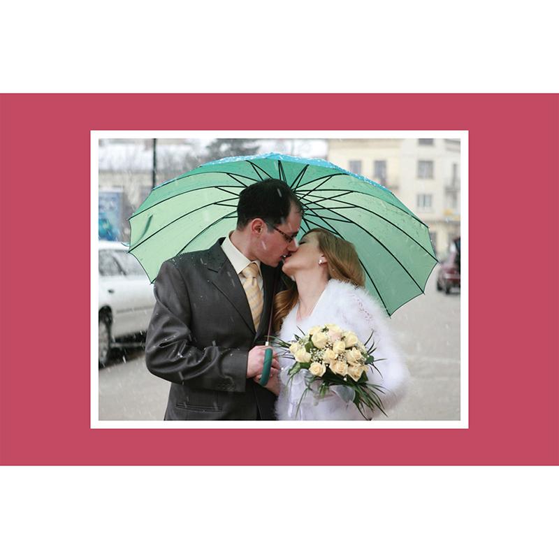 Carte de remerciement mariage Union rouge gratuit
