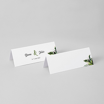 Marque-place mariage Feuilles Tropicales