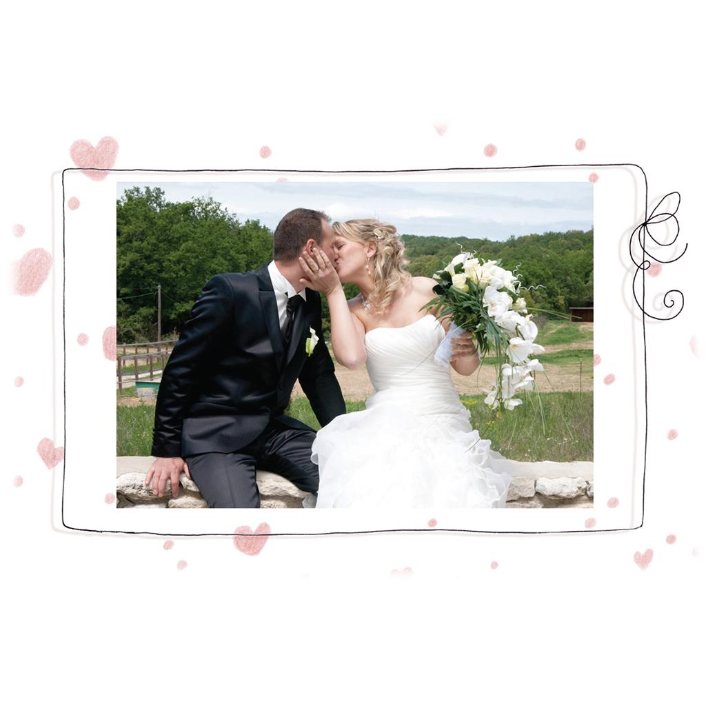 Carte de remerciement mariage Les Coeurs  gratuit