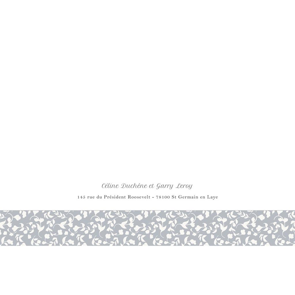 Faire-part de mariage Grey gratuit