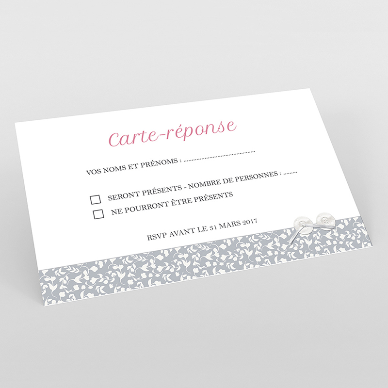 Carton réponse mariage Grey