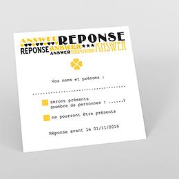 Carton réponse mariage New york jaune