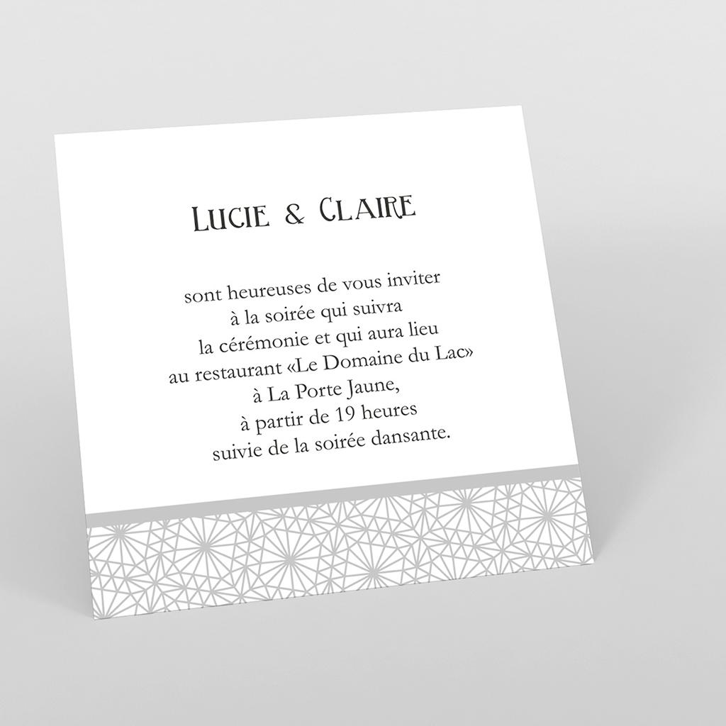 Carte d'invitation mariage Wedding 2 melles