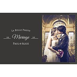 Carte de remerciement mariage Letter Press blanc pas cher