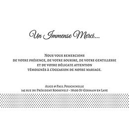 Carte de remerciement mariage Letter Press blanc gratuit