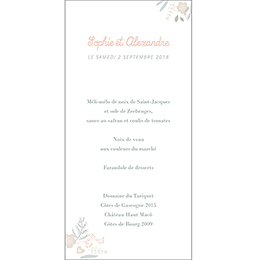 Menu mariage Sweet Wedding gratuit