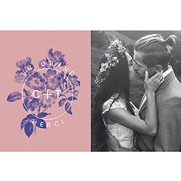 Carte de remerciement mariage Botanic pas cher