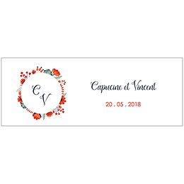 Marque-place mariage Poppy pas cher