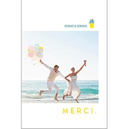 Carte de remerciement mariage Love Summer pas cher