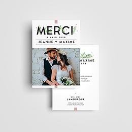 Carte de remerciement mariage Un Grand Oui