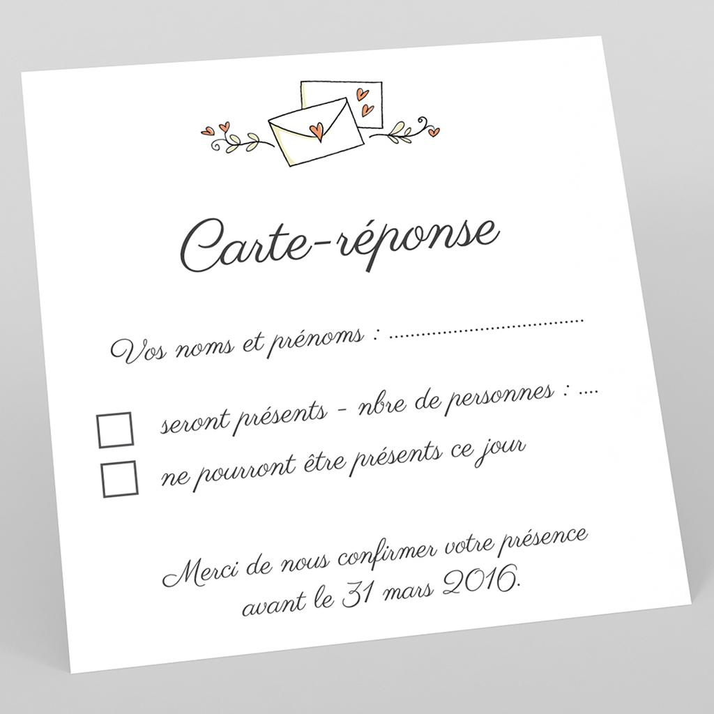 Carton réponse mariage Vélo à deux
