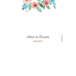 Menu mariage Nature Aquarelle