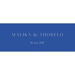 Marque-place mariage Fleur Bleue Elégance gratuit