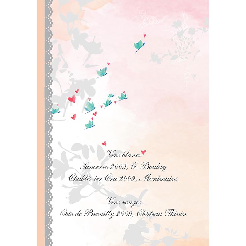Menu mariage Sensibilis  gratuit