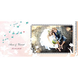 Carte de remerciement mariage Sensibilis  gratuit