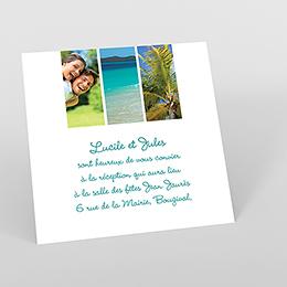 Carte d'invitation mariage carré photos vierges