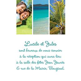 Carte d'invitation mariage carré photos vierges pas cher