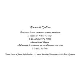 Faire-part de mariage Pano simple photos vierges gratuit