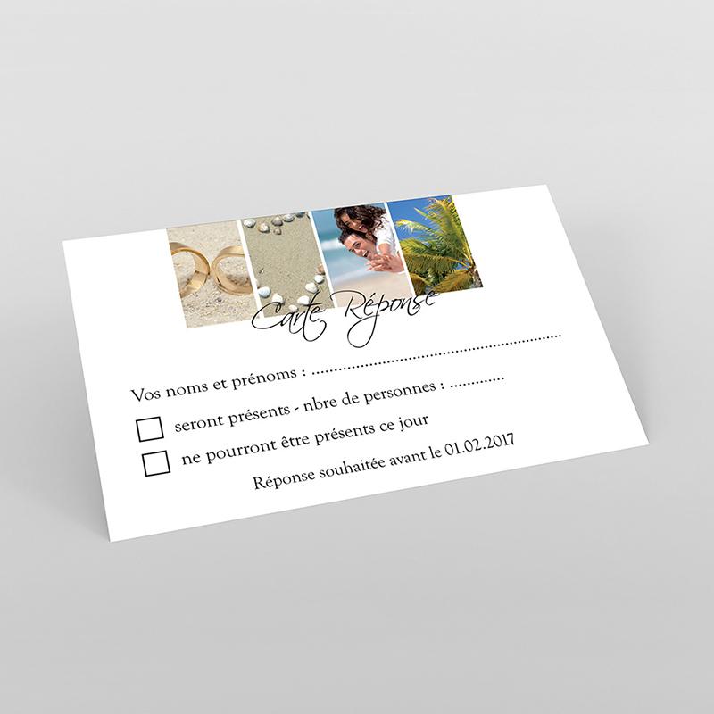 Carton réponse mariage Pano simple photos vierges