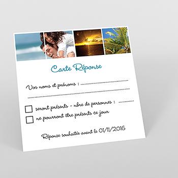 Carton réponse mariage Rectangle photos vierges