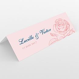Marque-place mariage Rose et Bleu