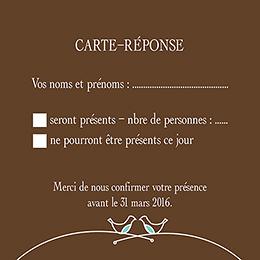Carton réponse mariage Idylle chocolat pas cher