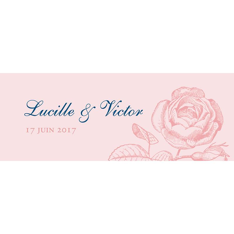 Marque-place mariage Rose et Bleu pas cher