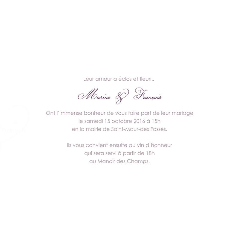 Faire-part de mariage Délicatesse