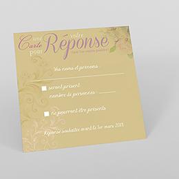 Carton réponse mariage Eternité