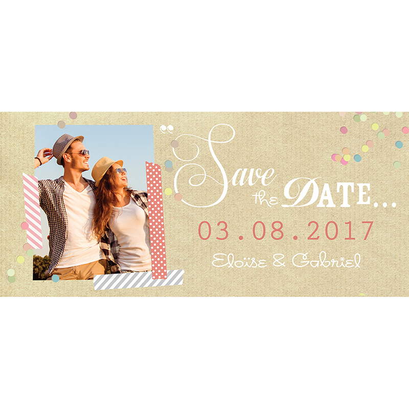 Save-the-date mariage Confettis  pas cher