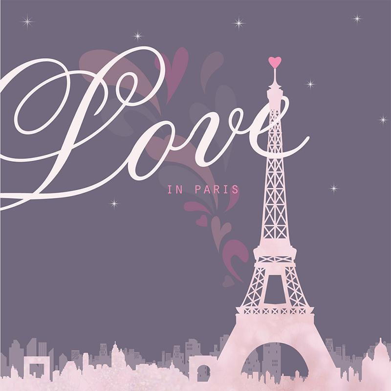Faire-part de mariage Paris violine pas cher