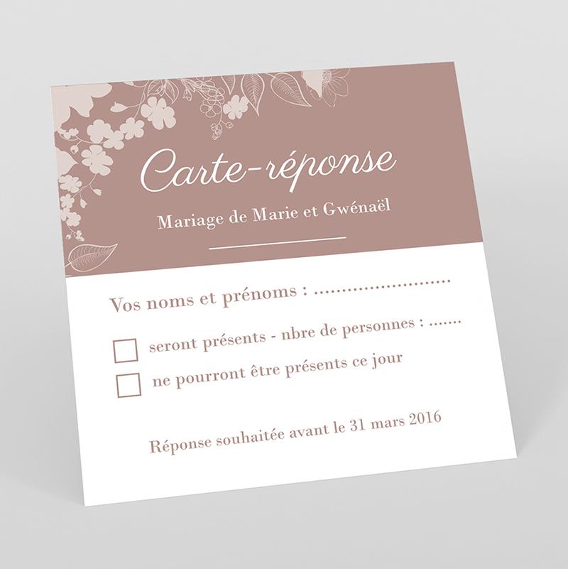 Carton réponse mariage Elégance