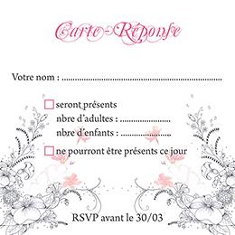 Carton réponse mariage Rêverie  pas cher