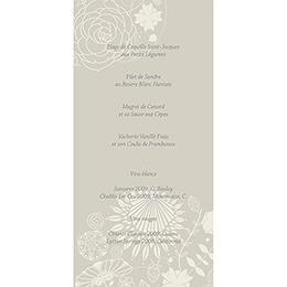 Menu mariage Mariage ivoire coeur gratuit