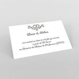 Carte d'invitation mariage Voyage en ballon