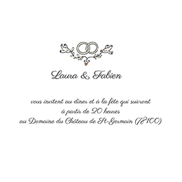Carte d'invitation mariage Voyage en ballon pas cher
