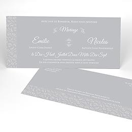 Faire-part de mariage Letter Press gris