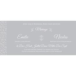 Faire-part de mariage Letter Press gris pas cher